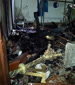 Indignación por el incendio y destrozos en la Parroquia de Fátima de Olavarría, Argentina