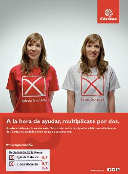 Campaña de Cáritas España para marcar en la Declaración de la Renta la casilla de la Iglesia y la de fines sociales