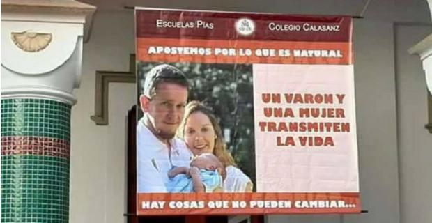 Argentina: pretenden denunciar a un colegio católico por poner carteles sobre el verdadero matrimonio