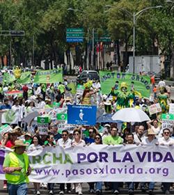 Organizaciones de México realizan la 4ª Marcha por la vida