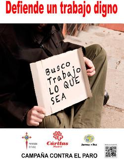 Cáritas Madrid lanza la Campaña contra el Paro 2015 con el lema «Defiende un trabajo digno»