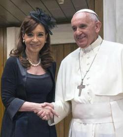 La presidenta argentina dice que el Papa y ella creen en un mundo multipolar