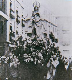 Se cumplen cien años de la procesión del Sagrado Corazón en Málaga