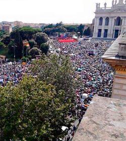 La Italia cristiana se echará de nuevo a la calle en Roma para defender la familia
