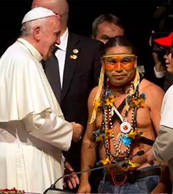 Francisco pide perdón por las ofensas de la Iglesia a los indígenas durante la conquista de América