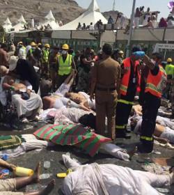 Más de setecientas personas mueren en una avalancha en La Meca