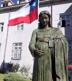 Llega a Chile la Virgen del Niño por nacer