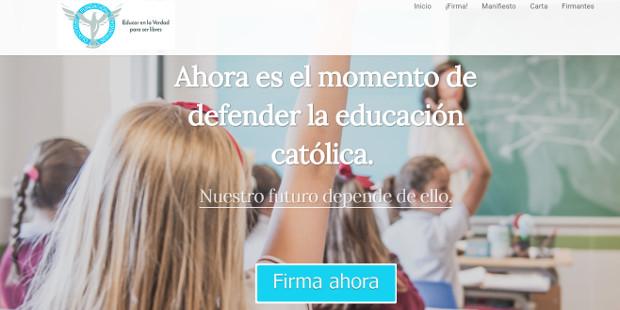 Educatio Servanda lanza el «Manifiesto por la escuela católica»