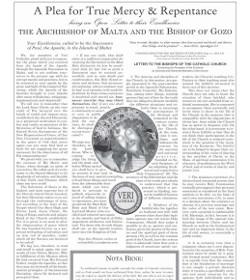 Fieles de Malta a sus obispos: «Han permitido que Nuestro Señor sea crucificado y torturado una vez más»