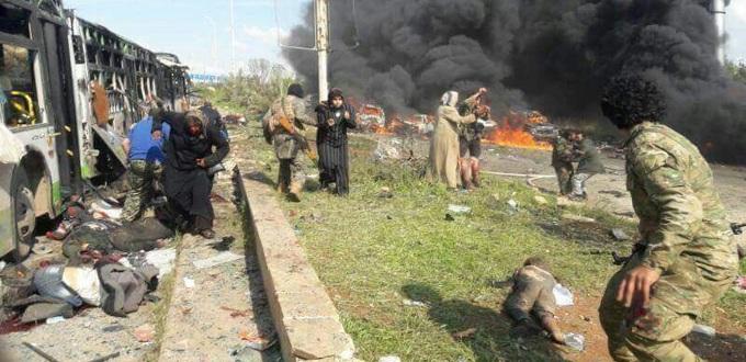 Al menos 70 muertos en un atentado contra un convoy de evacuados cerca de Alepo