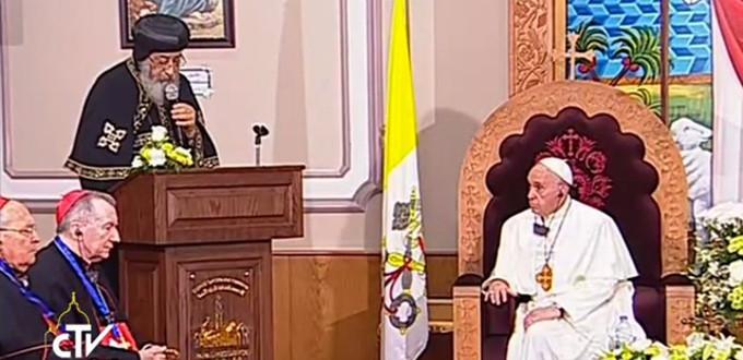 «Coptos ortodoxos y católicos podemos hablar cada vez más la lengua común de la caridad»