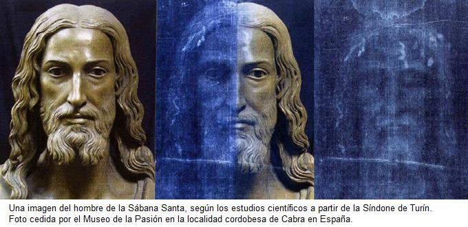 Rostro de Jesús según la Sábana Santa