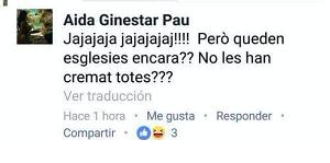 Captura de pantalla del Facebook de Aida Ginestar