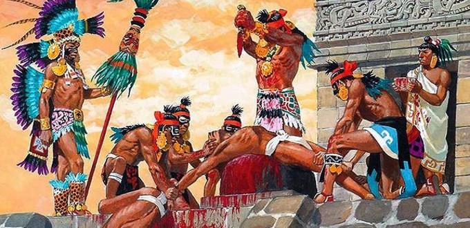 Resultado de imagen para aztecas sacrificaban humanos