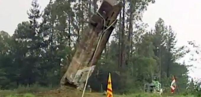 Cuatro heridos en el derribo de una Cruz en la localidad vasca de Larrabetzu