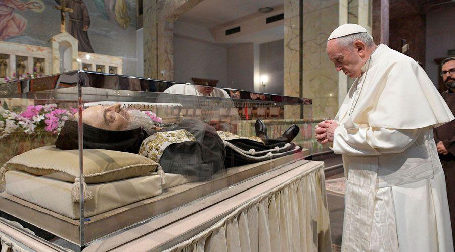 El Papa visita Pietrelcina
