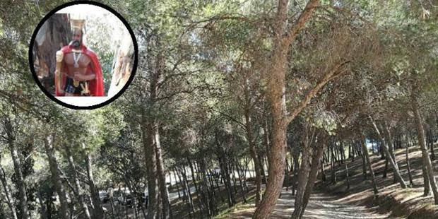 Aparecen restos de rituales de santería y satanismo en un monte de Málaga