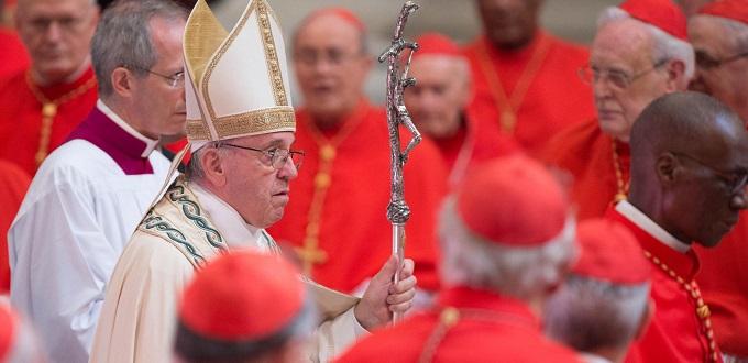 El Papa Francisco creará 14 nuevos cardenales