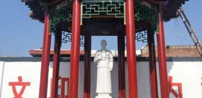Fieles en Han Dan inauguran estatua de Santo Mártir chino