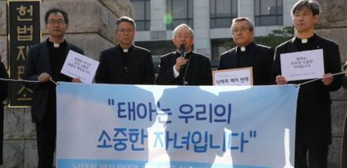 Católicos surcoreanos se movilizan a favor de la vida y contra el aborto