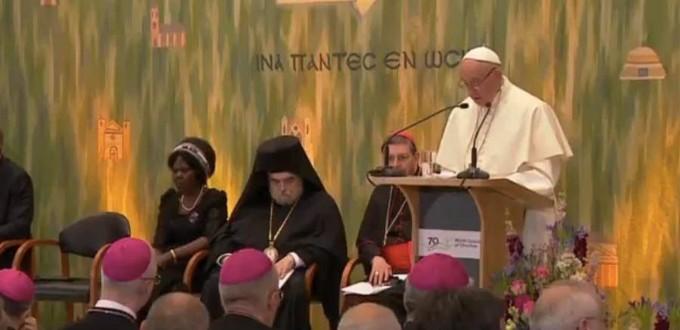 El Papa pide orar y trabajar juntos en el camino hacia la paz y la unidad
