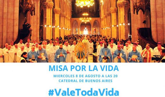 Santa Misa por la Vida en la Catedral de Buenos Aires mientras el Senado vota sobre el aborto