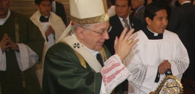 El Cardenal Cipriani invita a tener «prudencia y serenidad» para «unir al país