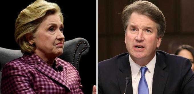 Hillary Clinton muestra su desesperación ante la posible llegada de Kavanaugh a la Corte Suprema de EE.UU