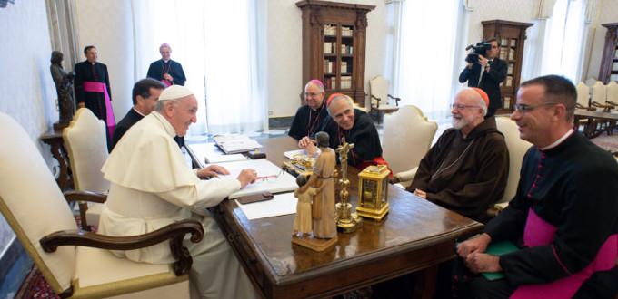 El Papa se reunió con la Ejecutiva de la Conferencia Episcopal de Estados Unidos