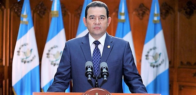 Jimmy Morales: «Guatemala cree en la vida y en la familia basada en el matrimonio de hombre y mujer»