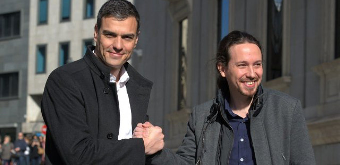 Sánchez e Iglesias pactan eliminar los delitos de ofensas a la Corona y a los sentimientos religiosos