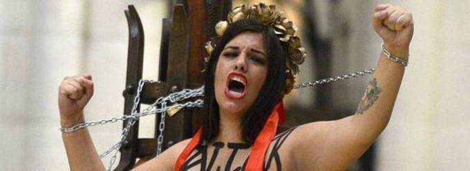 Comienza el juicio contra las dos activistas de Femen que profanaron la Catedral de La Almudena en el 2014