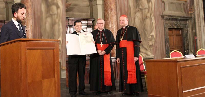 Premio de las Academias Pontificias de Teología y de Santo Tomás de Aquino 2018 para los profesores Stefano Abbate y Javier Pueyo