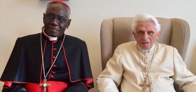 Sarah, con Benedicto XVI