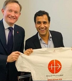 Parlamentario de Inglaterra correrá la maratón de Londres en beneficio de la Fundación Ayuda a la Iglesia Necesitada