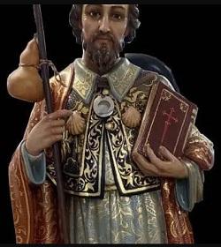 Mons. Barrio bendijo la imagen del Apóstol Santiago que peregrinará por la Diócesis para preparar el Año Santo